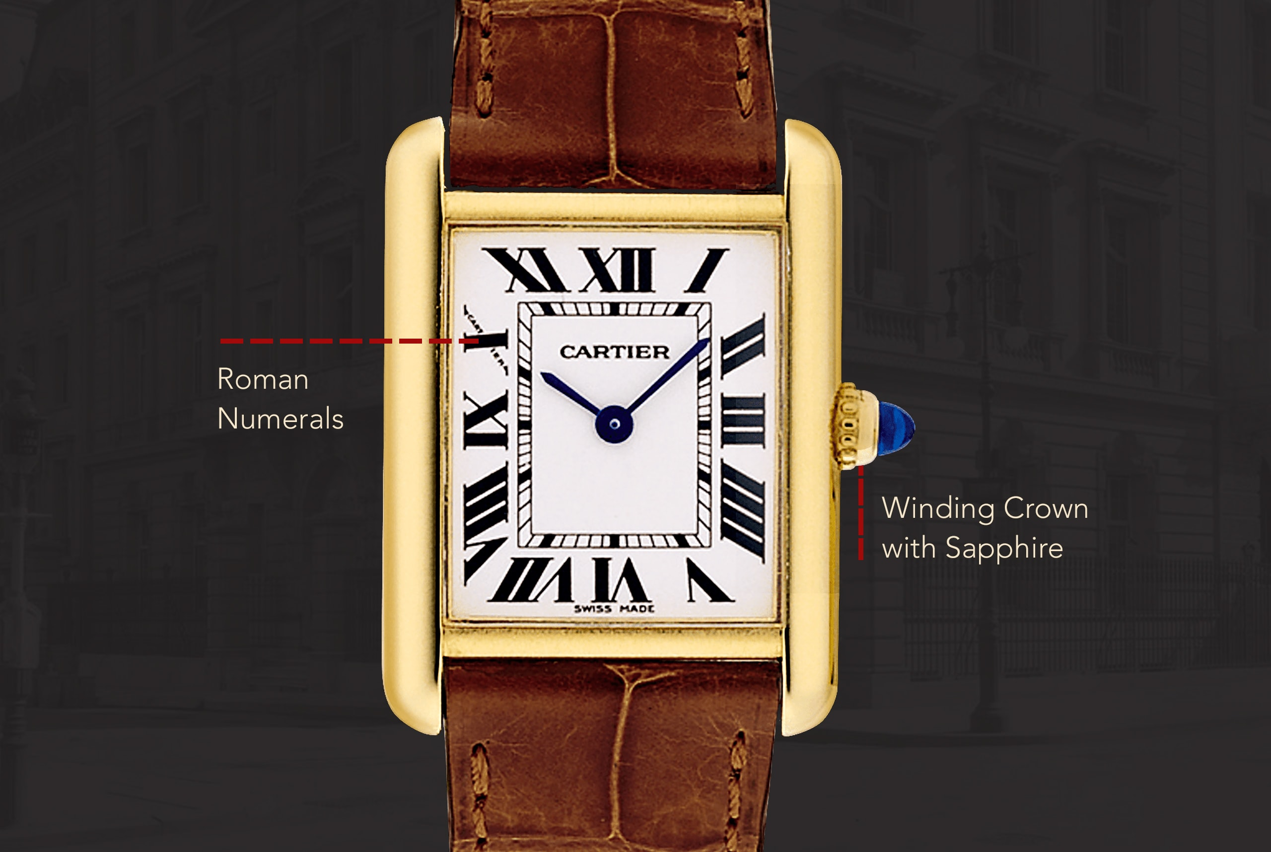 watch xl hand americaine box product cartier watchcollectors second watches gold tank collectors white