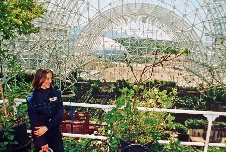 The intensive agriculture zone of Biosphere 2 in 1993.