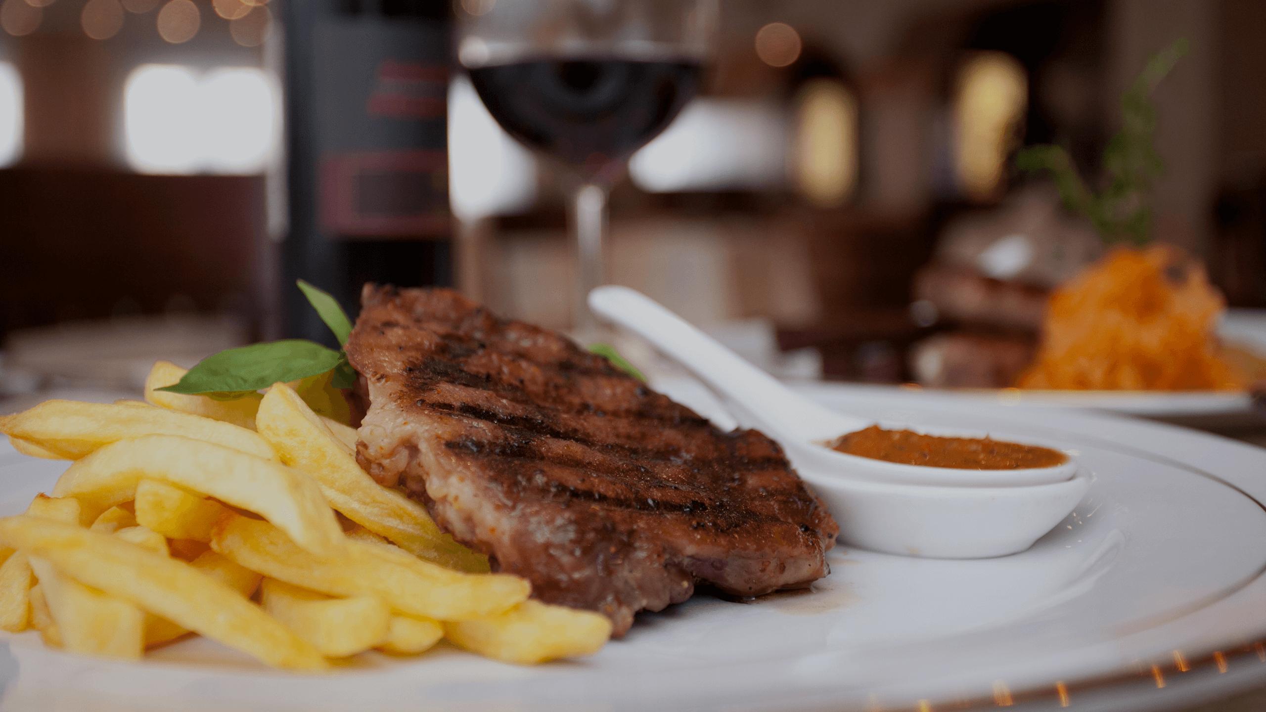 Steak and fries dinner