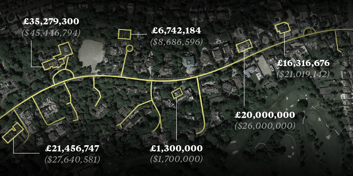 Money, murder, and mystery on London's derelict 'Billionaires' Row'