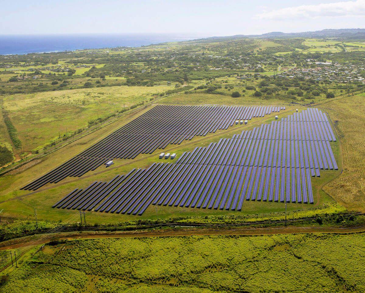 A solar farm built by Tesla and the Kauai Island Utility Cooperative in Hawaii.