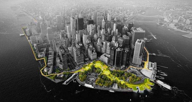 "New York is planning on building a protective system called the ""Big U"" that's designed to create public space and buffer against the storm surge that flooded the city during Hurricane Sandy."